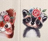 Panel Jersey Woodland Babys - Eichhörnchen & Waschbär