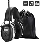 ZOHAN 042 Ear Defenders with Radio, AM/FM Digital Safety Ear Protector Muffs, SNR