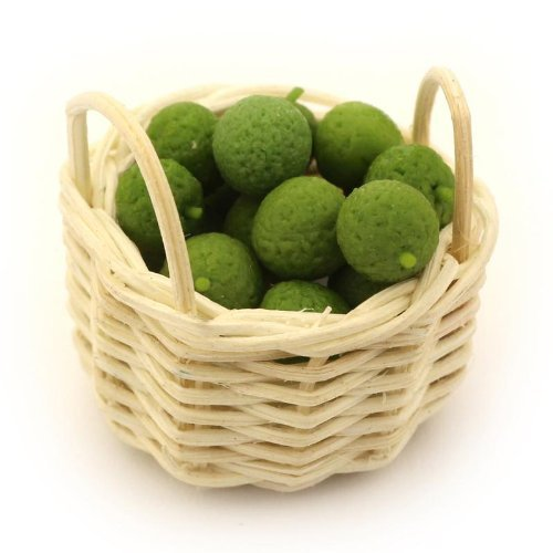 MyTinyWorld Maison de Poupées Miniature Panier de Fait à la Main Limes
