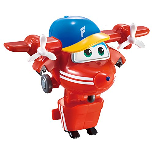 Super Wings - Flip, figura transformable Super Wings, 7.5 x 5 x 5.5 cm (ColorBaby 85217)