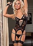 MEN.CLOTHING-LEE Ropa de Dormir para Mujer Corsés para Mujer Porn Sex Babydoll Set Sexy Erotic Lingerie Dress Lace...