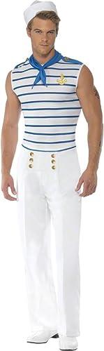 online barato Colour Colour Colour blanco-azul marinegro traje M 48 50 marinegro traje de marinegro disfraz marinegro traje de marinegro  a precios asequibles