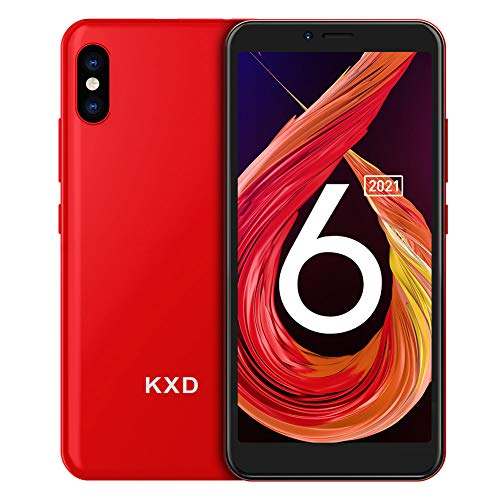 Teléfono Móvil Libre, KXD 6A Smartphones Baratos, 1GB RAM 8GB ROM (64GB SD) Smartphone Libre, Pantalla 5.5', 3G Android 8.1 Dual SIM, Face ID, Cámaras triples, 2500mAh/GPS/Versión Global-Rosa Grado