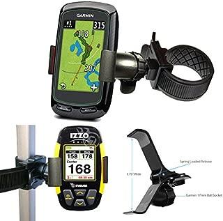ChargerCity Strap Lock 360°Rotate Golf Trolley Cart Pole Holder Mount for Garmin Approach G6 G7 G8 Golf Buddy Tour Voice World Platinum IZZO Swami 5000 4000 SkyCaddie Touch SGX UPRO MX+ Ragefinder GPS