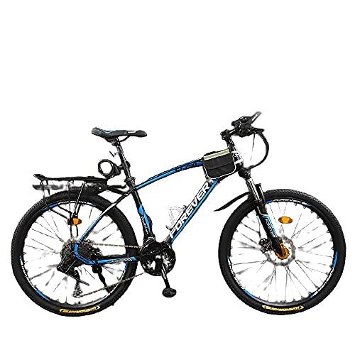 Bicicleta, Niños Y Niñas, Fuerte Veloz Rápido, Vehículo Todoterreno De La Montaña-Radios_26 Pulgadas 21 Velocidad,Bicicleta Eléctrica