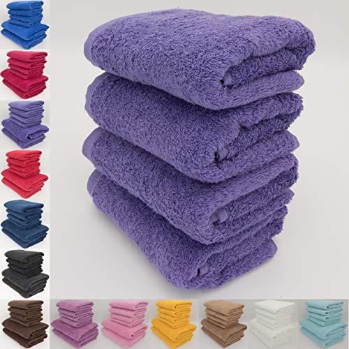 Juego de toallas absorbentes, en rizo de algodón natural, 500g/m², calidad de hotel, toalla de baño (70x140cm) y toalla de manos (50x90cm)