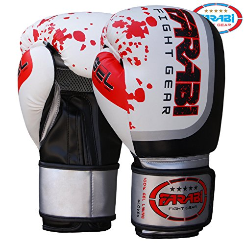 Guantoni da Boxe Sparring MMA Thai Grappling Fight Training Pads by Farabi (14-oz)