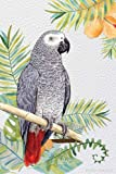 Parrot Journal: African Grey Parrot Journal for Parrot Health Notes, Training, Food, Talking, Toys, Parrot Gifts for Women