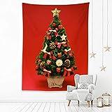 MMHJS Navidad Europea Fondo Blanco Puro Tela Colgante Árbol De Navidad Impresión Fondo Simple Decoración Tela Sala De Estar Dormitorio Cabecera Cama Y Desayuno Tapiz