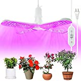LED Grow Lights Full Spectrum - JESLED 300W IR & UV LED Plant Lights for Indoor Plants, E26/E27 Growing Light Bulbs with Timer, Hydroponic, Succulents, Seedlings, Vegetables ( 6Ft Extension Cords)