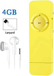 MP3 Player, Dyzeryk 4GB MP3 Player with USB Flash Drive, Portable HiFi Lossless Sound MP3 Music Player, Supports up to 64GB