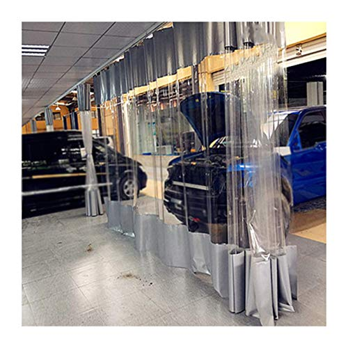 GDMING Lona De PVC Transparente Impermeable Tarea Pesada A Prueba De Polvo Anti Niebla Cortar Cortina para Interior Al Aire Libre Fábrica Taller, Personalizable (Color : Claro, Size : 1.9x5m)