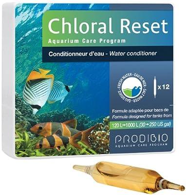 Prodibio Chloral Reset Set de 12 Ampoules pour Aquariophilie