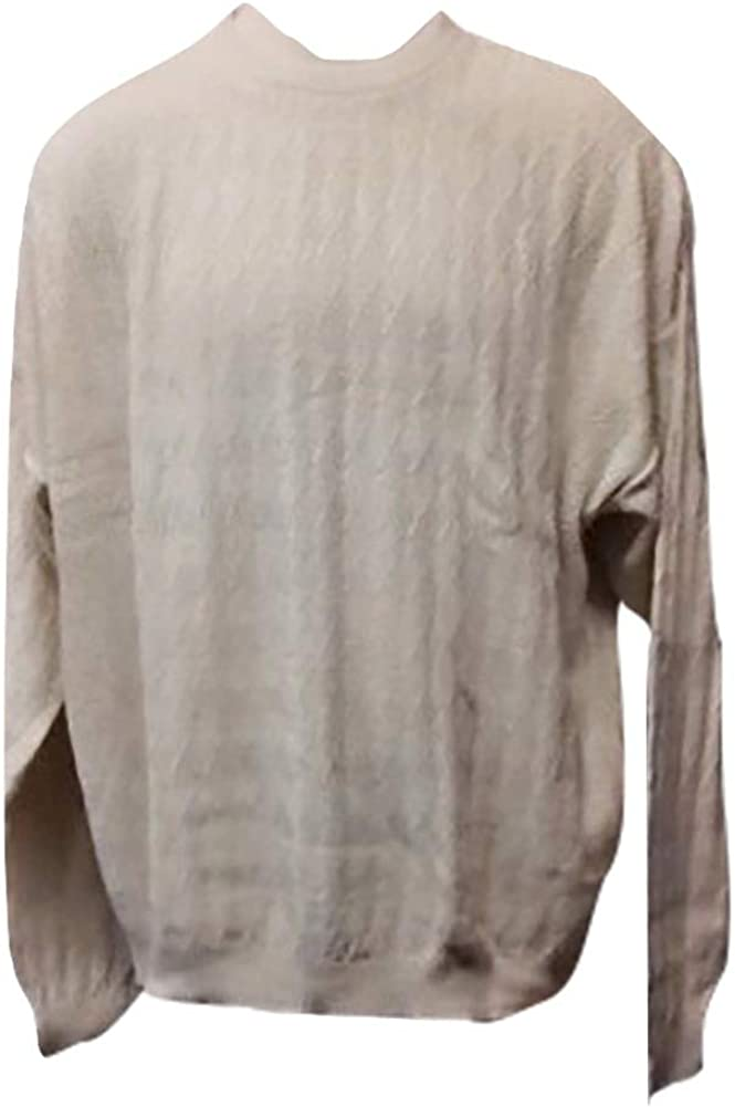 SWP Made in USA Textured Big and Tall Crew Neck Sweater