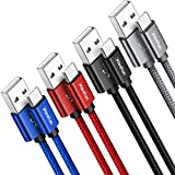 CLEEFUN Câble USB C [4-Pack 0.3m 1m 1.8m 3m], Cable Chargeur Type C, 3A Charge Rapide Compatible...