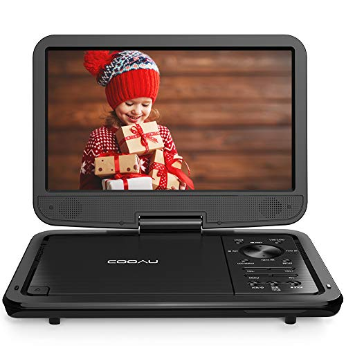 COOAU 12.5' Portable DVD Player with 10.5'' High-Brightness Swivel Screen,...