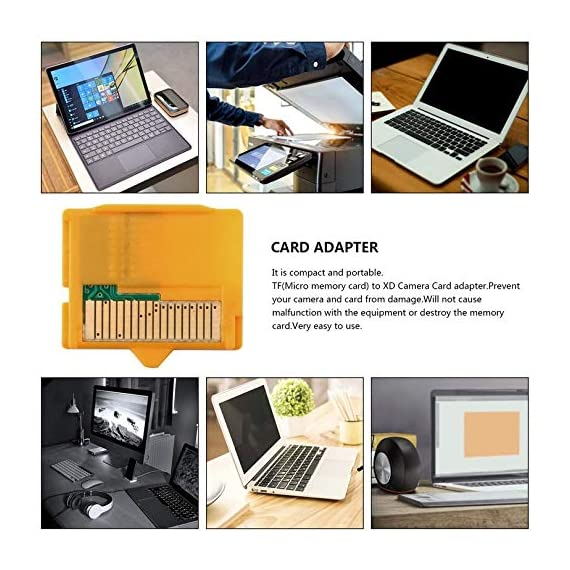Rodalind yellow 25 x 22 x 2mm(l x w xh) 1pcs micro sd attachment masd-1 camera tf to xd card insert adapter for olympus 2 it is compact and portable tf(micro memory card) to xd camera card adapter prevent your camera and card from damage