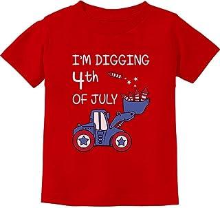 Tstars - I'm Digging 4th of July Tractor Loving Boys Toddler Kids T-Shirt