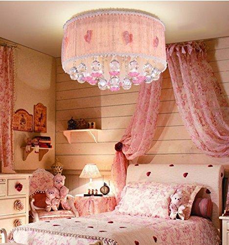 Lily's-uk Love Chambre à coucher Lumière de plafond de cristal Chambre romantique de mariage romantique Salon Éclairage LED Princess Girl Salle d'enfants Lumières rondes