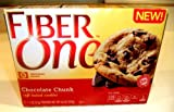 Fiber One NEW! SOFT-BAKED COOKIES, CHOCOLATE CHUNK, 6 Cookies in each Box (6 PACK)