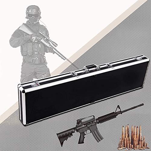 VULID Caja de la Caja de la Pistola, Caja de la Pistola de Rifle Duro con 4 cerraduras, protección de Esponja, aleación de Aluminio y Material ABS, Estuche de Pistola Dura (Size : 140CM)