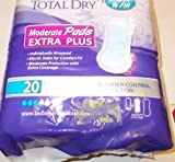 Total Dry Moderate Pads Extra Plus Bladder Control Protection 20 Count