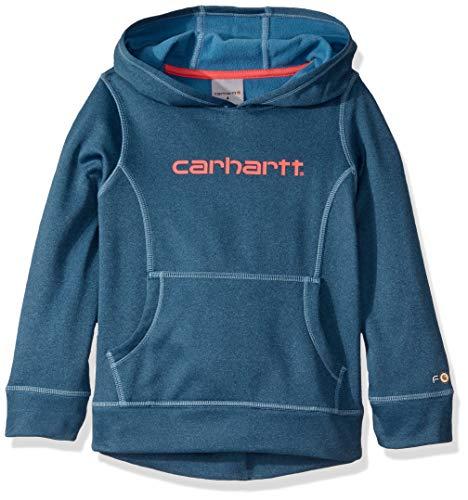 Carhartt Mädchen Big Hooded Fastdry Pullover Sweatshirt - Blau - Medium