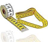 TK Gruppe Timo Klingler Massband Schneidermaßband 150 cm zweiseitiges Messband in cm und inch Körpermaßband Körper & Schneider (1x Stück)