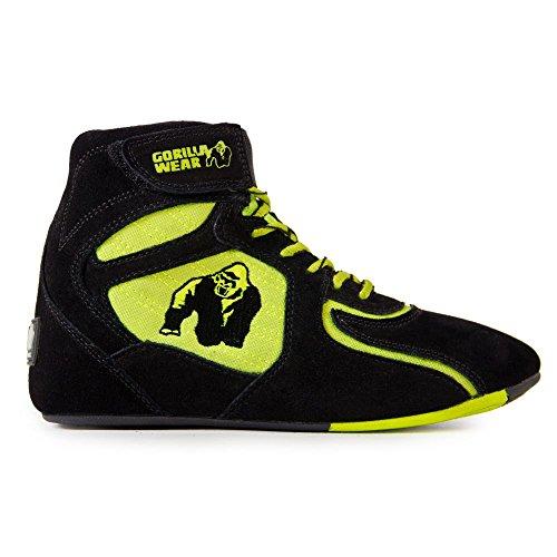 Gorilla Wear Chicago High Tops Black/Neon limeLimited Edition - Bodybuilding und Fitness Schuhe für Damen und Herren, EU 36
