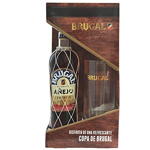 Brugal Añejo Ron 38% + Estuche Vaso  - 700 ml