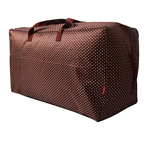 WITERY grande borsa portaoggetti da 100 l con cerniera impermeabile grande borsa per traslochi giocattoli sacchetti a prova di umidità per coperte, vestiti, piumoni e asciugamani, cuscini