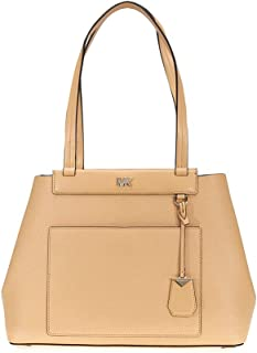 Michael Kors Meredith Medium East/West Bonded Leather Tote- Butternut