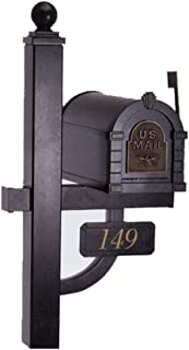attaching mailbox to wooden post