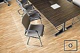 Transparente Bodenschutzmatte, 120 x 300 cm, aus Makrolon, Schutzmatte für Parkett-, Laminat- & PVC-Böden, 17 weitere Größen und Formen wählbar