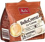 Melitta Gemahlener Röstkaffee in Kaffeepads, 10 x 16 Pads, 100% Arabica, Mild und Harmonisch, milder Röstgrad, Stärke 3, BellaCrema