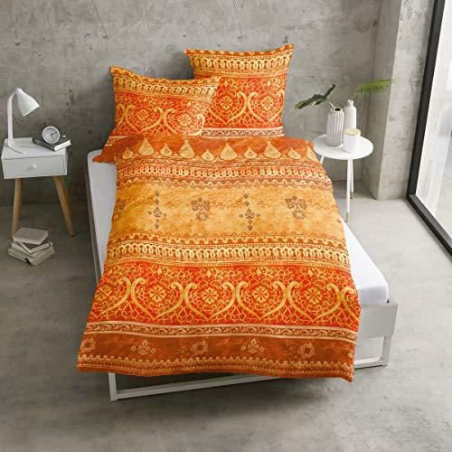 Traumschlaf Satin Bettwäsche Indi 1 Bettbezug 135x200 cm + 1 Kissenbezug 80x80 cm