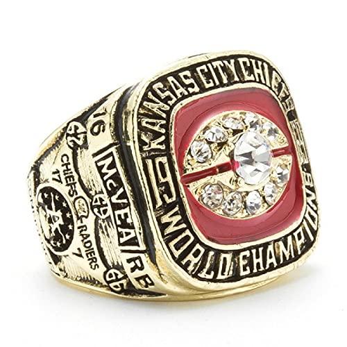 Kansas City Chiefs Ring Diamond Set Ring Ladies Populaire Full Diamond Ring Hand Jewelry, Bague de fiançailles, Bague de Couple 7号 Gukin