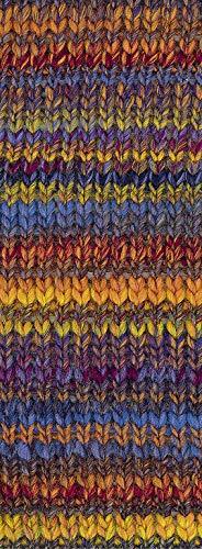 Lana Grossa - Olympia - Fb. 81 orange/grau/dunkelrot/blau/gelb/hellgrün 100 g