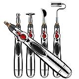 blu-beri 5 Head Acupuncture Pen | Meridian Energy Massage Pen | Electronic Acupuncture Pen | Muscle Stimulator Pen | Pain Relief Massage Tool | Electronic Massage Pen