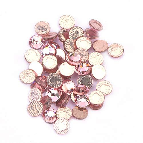 Homeriy 50 Piezas de Cristal de 4 Mm Diamante Caliente Luz Duradera Y Diamantes de Imitación de Cristal de Hotfix Portátiles para Decoración Ropa Práctica Deslumbrante Accesorio de