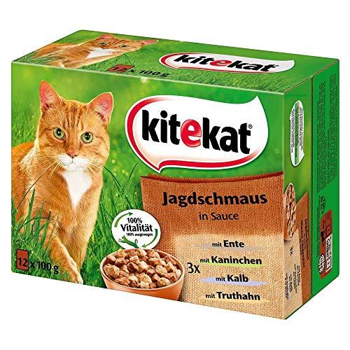 Kitekat - Multi Pack Jagdschmaus in Sauce - 12x100g/1,2kg
