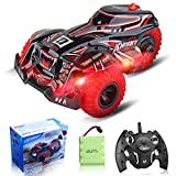 Feeke Remote Control Car for Adults, 2021 Newest 2.4Ghz High Speed Terrain RC Cars Racing Toy, 1:14 Scale Three Wheeled Drift Performance Car with Rechargable Batteries + Connector, Toys for Boys