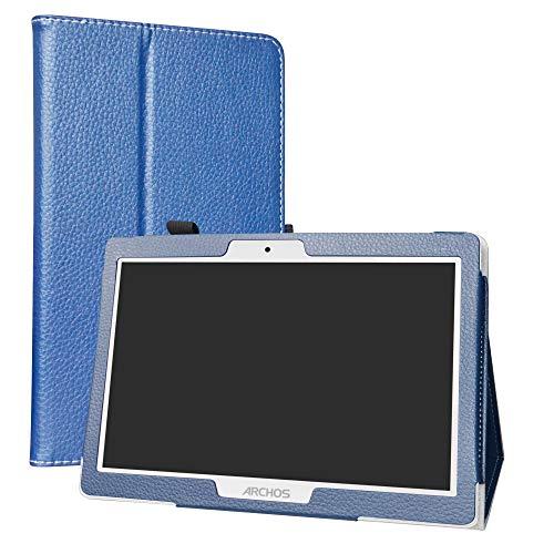 """Archos 101 Oxygen Coque,LiuShan Slim PU Cuir Etui et Pliable Stand Folio Housse Coque Couverture pour 10.1"""" Archos 101 Oxygen 4G Android Tablet,Bleu"""