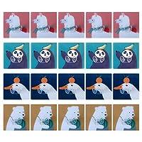Cabilock 20ピースプラグフック多目的ハンガー漫画粘着フック壁掛けフックキーホルダー(ランダムカラー)