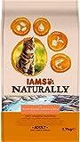 IAMS Naturally Croquettes pour Chat Adulte au Saumon d'Atlantique du Nord & Riz 2,7 kg