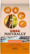 IAMS Naturally Adult Dry Cat Food Rich in North Atlantic Salmon and Rice, 2.7 kg (Pack of 3)