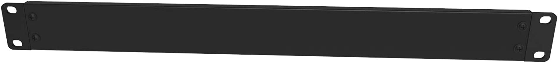 Jingchengmei 1U New Disassembled Blank Rack Mount Panel for 19-Inch Server Rack Enclosure or Network Cabinet, Black