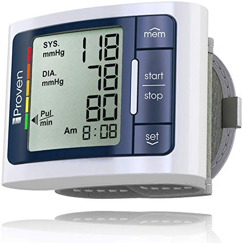iProven Digital Blood Pressure Monitor Wrist, Memory for 60 Readings, Irregular Heart Beat Detection, Large Screen & Fast Readings, Batteries Included