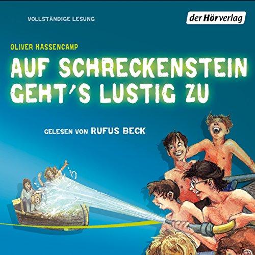 Auf Schreckenstein geht's lustig zu audiobook cover art
