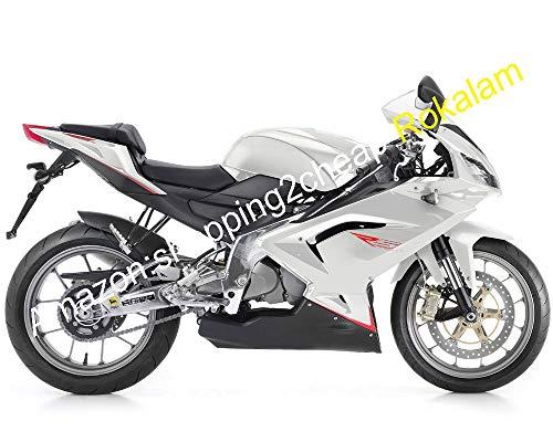 Para Aprilia Motorcycle Kit RS125 2006 2007 2008 2009 2010 2011 RS 125 RS-125 Blanco Negro ABS Carenados De Carrocería (Moldeado Por Inyección)